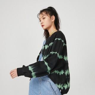 ONLY 2021春季新款时尚潮流扎染撞色宽松圆领套头卫衣女|12119S067