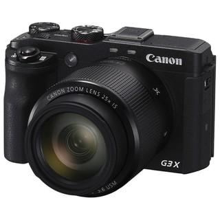 Canon 佳能 PowerShot G3 X 3英寸数码相机 (8.8-220.0mm、F2.8) 黑色