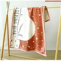 SMOOMS 思萌 大尺寸双层加厚儿童午睡毛毯盖毯