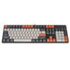ROYAL KLUDGE K104 104键 有线机械键盘 侧刻 黑色 国产青轴 单光