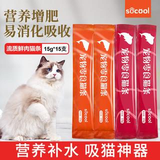 速酷猫咪零食小鱼饼干88g*2盒&送猫条1根