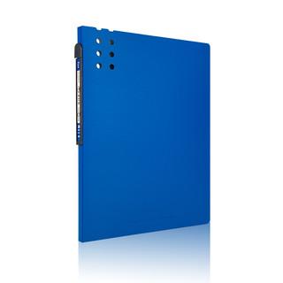 fizz 飞兹 20页A4磨砂资料册/立体背条文件册/彩色文件册/插袋文件夹 深蓝FZ102012