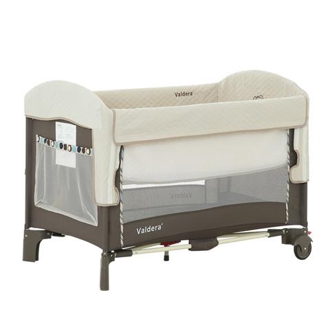 VALDERA 瓦德拉 FC9091 可折叠婴儿床拼接 卡其杏色豪华款