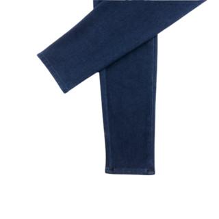 UNIQLO 优衣库 HEATTECH 女士牛仔长裤 432176 藏青色 S