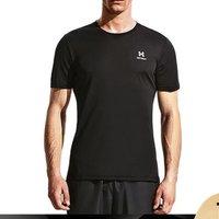 HOTSUIT后秀男士短袖圆领纯色轻薄透气运动健身t恤男短袖男