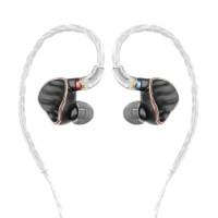 FiiO 飞傲 FH7 入耳式挂耳式圈铁有线耳机 黑色 3.5mm