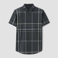 HLA 海澜之家 HNECD2D090A90 男士短袖休闲衬衫