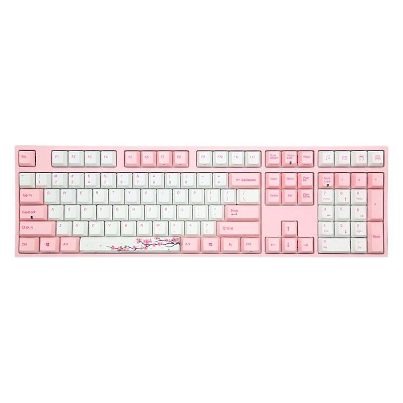 VARMILO 阿米洛 VA108M 桜 108键 有线机械键盘 粉白 Cherry青轴 无光