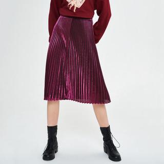 URBAN REVIVO UR青春女装金属质感时尚A字裙YV01R5AE2000