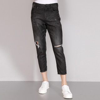 LILANZ 利郎 休闲时尚舒适腰头修身破洞设计牛仔裤