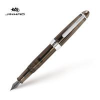 凑单品:Jinhao 金豪 992 中细铱金钢笔 透明黑 0.5mm