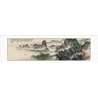 HONGYAN 泓砚 蔡景星《借问西湖》 66x216cm 新中式客厅装饰画 国画 山水画
