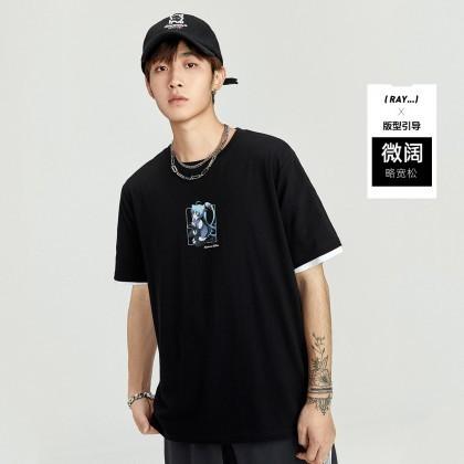 PEACEBIRD 太平鸟 初音未来系列 BWDAB150289 男士T恤