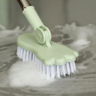 香柚小镇 长柄清洁刷子浴室硬毛地板刷卫生间厕所地刷浴缸刷瓷砖地板 绿色