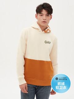 Gap 盖璞 男装|碳素软磨系列 徽标LOGO活力撞色休闲套头卫衣
