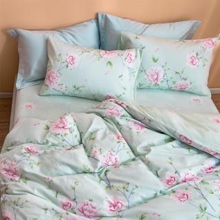 LOVO 乐蜗家纺 罗莱生活出品全棉床上套件被套床单纯棉四件套