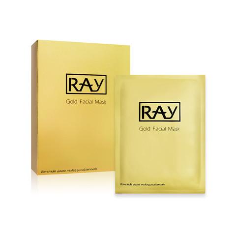 RAY 泰国RAY妆蕾蚕丝面膜 粉色金色银色 补水提亮美白10片/盒