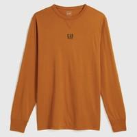 Gap 盖璞 618481 男装徽标LOGO长袖T恤