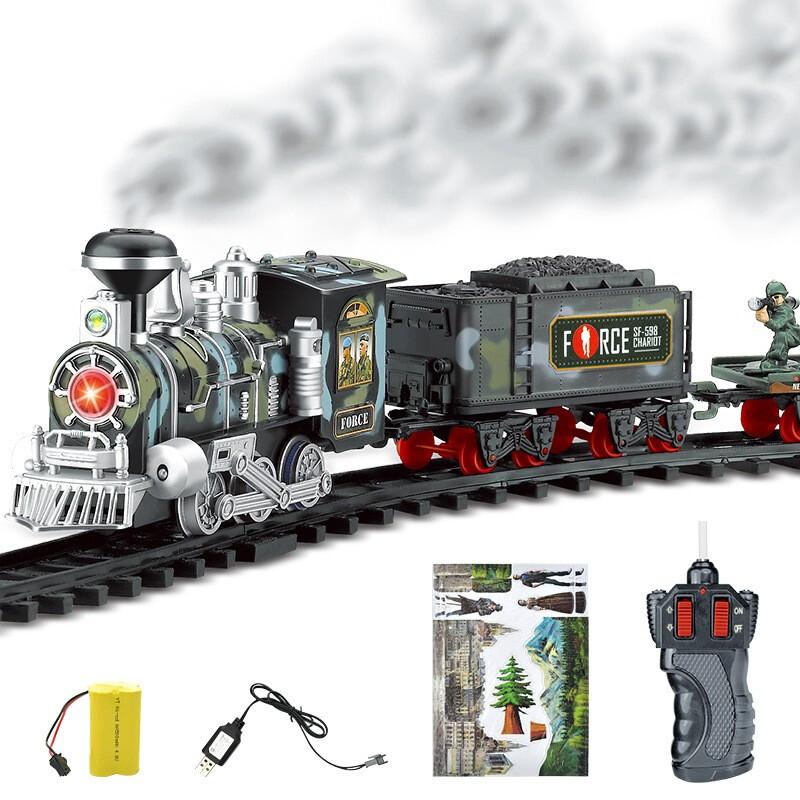贝利雅 遥控蒸汽冒烟轨道火车