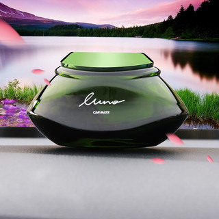 CARMATE 快美特 汽车香水 座式沸石香薰 车载家用座式香水 装饰用品摆件CFR753 玫瑰茶 绿色