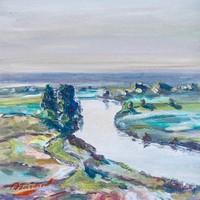 MO 伊戈尔四季系列《春》30x30cm 油画 原作无框