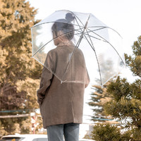 MINISO 名创优品 透明视野雨伞网红拍照工具出行长柄伞坚实耐用透明雨伞