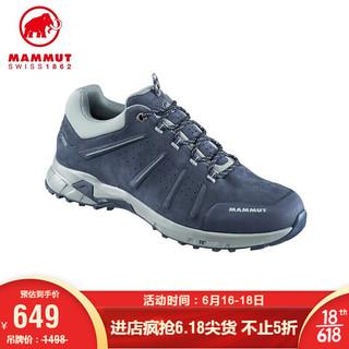 MAMMUT(锅具) MAMMUT/猛犸象 Convey 户外运动鞋男鞋GTX透气耐磨低帮徒步鞋登山鞋 深海蓝色-灰色 42