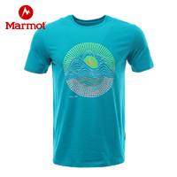 黑卡会员:Marmot 土拨鼠 H9609 男士款透气速干短袖T恤