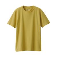 MUJI 无印良品 男式 印度棉天竺编织 圆领短袖T恤