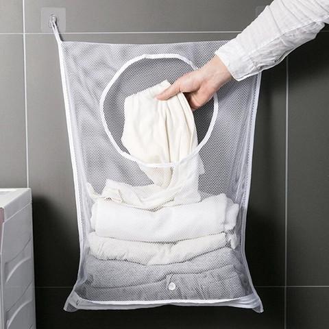JUKUAI 聚快 浴室壁挂式加大衣物收纳网袋
