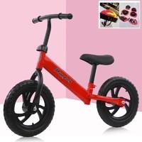 The North E home 北国e家 儿童1-3-6岁平衡车无脚踏两轮自行车滑步车+头盔+护具礼包