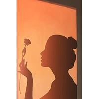 MHMH 卧室装饰画《花影》35×50cm  背景墙壁画