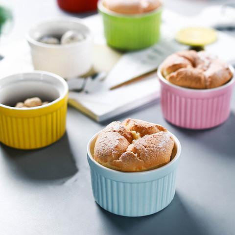 9·9樱花汇 3个装·创意陶瓷舒芙蕾烤碗家用网红烘焙烤箱餐具蒸蛋糕甜品碗
