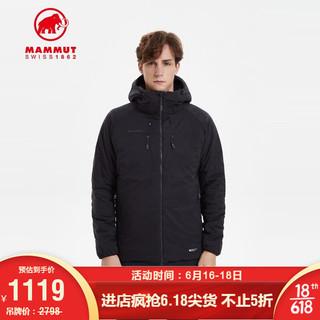 MAMMUT 猛犸象 Rime男防泼水透气短款保暖夹棉上衣棉服 黑色 L