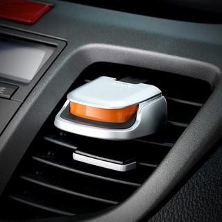 CARMATE 快美特 汽车香水 空气科学Ⅱ 车用车载出风口香薰 装饰用品CFR762 万人迷香 哑光银色 橙色
