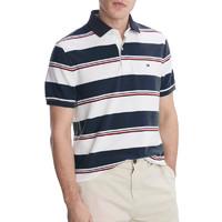 TOMMY HILFIGER 汤米·希尔费格 男士新款时尚休闲条纹拼色短袖POLO衫