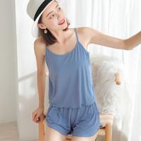 敏莲 女士家居服套装(吊带+短裤)