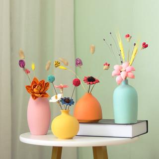 莫兰迪陶瓷小花瓶干花器花插客厅小摆件简约轻奢家居卧室桌面花器
