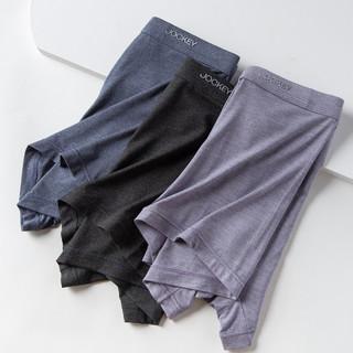 JOCKEY 3条装男士平角内裤中腰舒适透气内裤