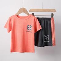 倪小宝 男童夏装套装 橙色 130cm