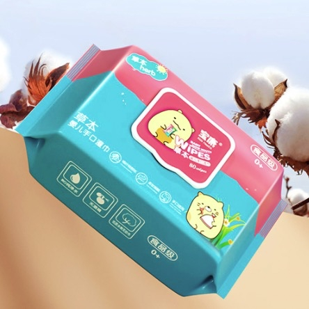 宝康 婴儿湿纸巾新生儿婴幼儿手口屁屁专用5大包装特价儿童家庭实惠装