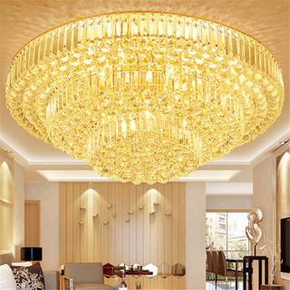 NVC Lighting 雷士照明 客厅灯水晶灯led吸顶灯现代简约大气家用圆形奢华餐厅卧室灯具