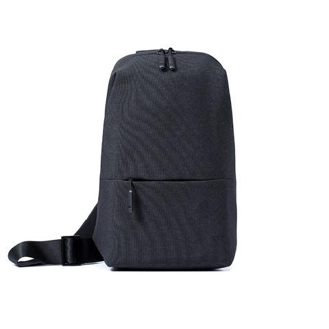 MI 小米 胸包单肩包男士斜跨包休闲男包多功能实用迷你运动腰包手提包