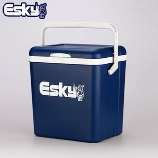 爱斯基 ESKY 26L蓝盖车载家用外卖保温箱冷藏箱 便携户外小冰箱保鲜箱 钓鱼专用箱 附8冰袋