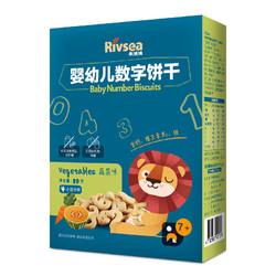 禾泱泱 宝宝零食 数字饼干 蔬菜味 营养丰富  1盒装80g