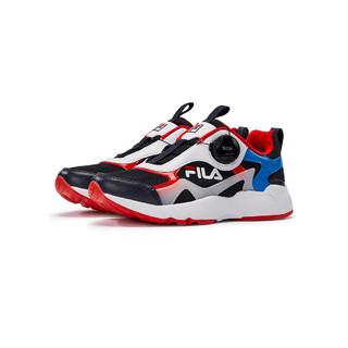 FILA 斐乐 男中大童(33-40)男童鞋时尚撞色低帮运动休闲鞋儿童跑步鞋
