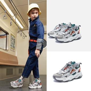 BeLLE 百丽 2021年春季新品儿童鞋男童运动鞋透气小孩鞋春天休闲鞋中大童