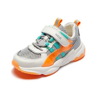 BeLLE 百丽 夏季新款男童运动鞋防滑网面透气童鞋跑步鞋中大童鞋子女童休闲鞋