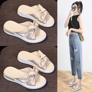 Miiow 猫人 夏新品拖鞋女厚底沙滩鞋凉拖鞋女外穿时尚平底拖鞋