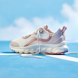 ANTA 安踏 跑步鞋女鞋2021春款轻便透气时尚休闲运动鞋